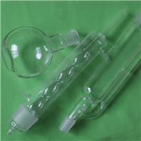 Lab Soxhlet Extractor For Liquid-Solid Extraction Body 45/50 Allihn Condenser Kit Glass Transparent