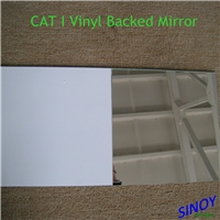 3mm - 6mm thick vinyl backed safety mirror glass for sliding door, wardrobe, cabinets.