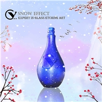 New product snowflake effect glass frosting powder