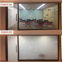 Customized different shapes switchable colorful electronic pdlc smart window glass film with CE, ROSH certificate
