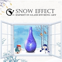 Snowflakes Bottle Glass Frosting Powder