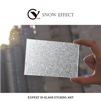 Use on glass/windows/mirrors - Powdered Snow Effect