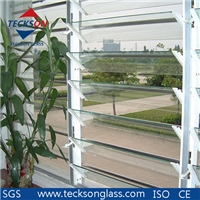 4-6mm Clear Figured Louvered Glass