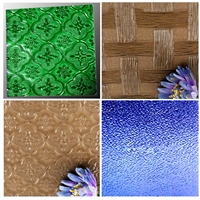Clear Tinted Acid Etched Patterned Laminated Tempered for Window / Door /Building Solar Glass