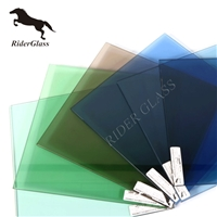 3-12mm Dark Green Pink Float Glass On Sale
