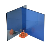 4mm dark blue float/reflective building/furniture glass with high quality