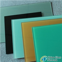 2-12mm silk screen printing ceramic frit color painted tempered glass