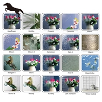 3-6mm Clear Patterned Glass With Ce