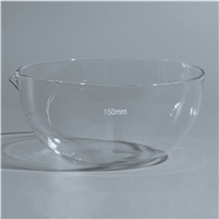 Quality Lab Glassware Evaporating Dish flat bottom with spout Boro 3.3 Glass manufacturer in China