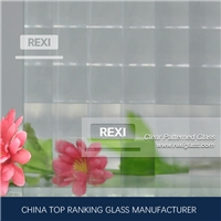 3mm-8mm Pyramid Patterned Glass, Pyramid Figured Glass, CE certified