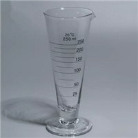 WB-2108 Lab glassware graduate cylinder cone shape, with spout, short lines Labware China manufactur
