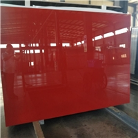 Red baking paint glass