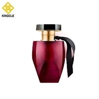 High Quality 100ml Red Polish Glass Perfume Bottles Bayonet Spray Silk Screen Hot Stamping Customized Glass Perfume Bottles