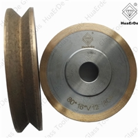 V-type diamond grinding wheel bronze bond glass grinding wheel