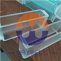 Extra Clear Frosted U-profile Glass, Acid etched u-profile glass