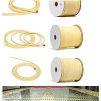 kevlar aramid rope in tempered glass