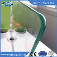 Customized clear tempered glass with High quality polished edge round conner