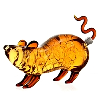 Customize Chinese Zodiac Animal Shaped Mouse Rat Glass Bottle