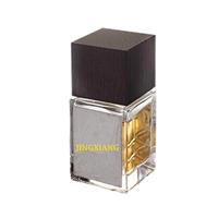Superior 50 ml 75 ml 100 ml Polish Finish Glass Perfume Empty Bottles With Customized Wooden Zamac Perfume Cap Silk Screen Gold Hot Stamping Logo Customized Glass Perfume Bottles
