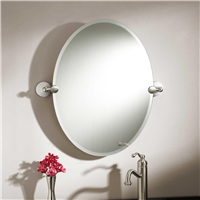 Simple Frameless Bathroom silver mirror with good China factory quality