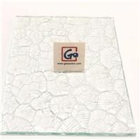 4mm Clear Ripple Figured Glass