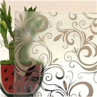 Acid Etched Frosted Art Glass