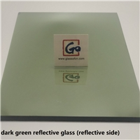 green reflective float glass  (dark green/ french green)