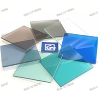 Colored Laminated Glass(Grey,Bronze,Blue,Green PVB)