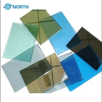 2016 Top hot sale colorful reflective glass price