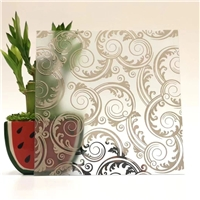 Acid Etched Frosted Art Glass High Quality