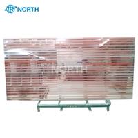 Silk screen printed glass wall