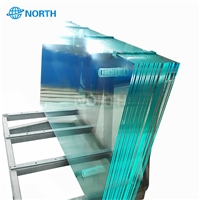 Tempered glass panel railing