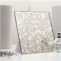 Distressed Mirror Glass Panel