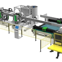 Fully automatic automotive glass cutting-breaking-grinding-drilling production line
