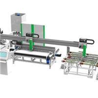 Automatic solar glass edge grinding production line