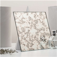 Clear Silver Antique Mirror Glass