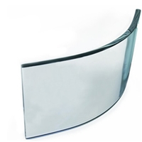 4mm-10mm reflective architectural tempered curved glass for curtain wal
