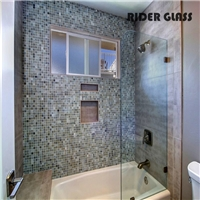 3-19mm shower door 12mm tempered safety glass