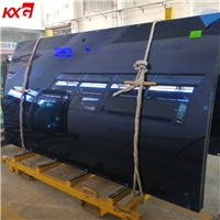 12mm Ford Blue Curved Tempered Glass Tinted Toughened Glass Manufacturer China