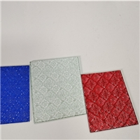 2020 hot sell product 4-10mm Custom size Decorative glass  embossed glass