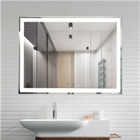 Modern Smart Frameless intelligent Anti fog led light bluetooth bathroom mirror