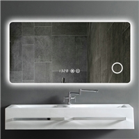 Factory direct supply intelligent Anti fog led light bluetooth bathroom mirror