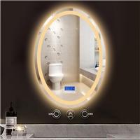 HI-Q Factory direct supply intelligent Anti fog led light bluetooth bathroom mirror