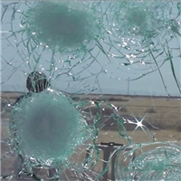 Safety bullet-proof smash-proof laminated glass for building