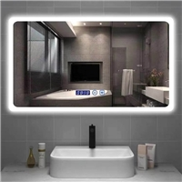 Morden touch switches Factory direct supply intelligent Anti fog led light bluetooth bathroom mirror