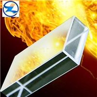 High tempered resistant fire glass