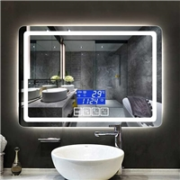Factory supply Morden popular touch switches  intelligent Anti fog led light bluetooth bathroom mirror
