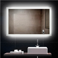 Morden popular touch switches  intelligent Anti fog led light bluetooth bathroom mirror