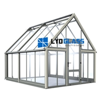 3MM tempered glass for Aluminum greenhouse
