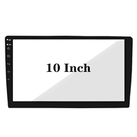 Customized 10inch Black Printed Glass Etched Anti-Glare Cover Glass for Car Navigation